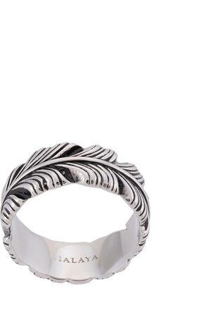 Nialaya Jewelry Anillo con grabado de plumas