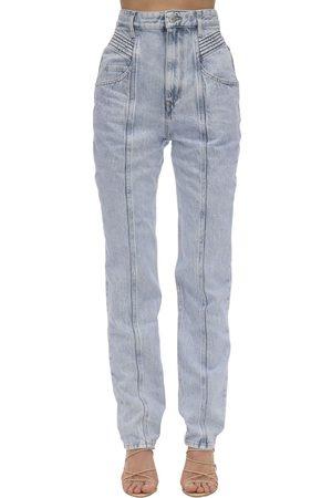 Isabel Marant Mujer Cintura alta - Jeans De Denim De Algodón Con Cintura Alta