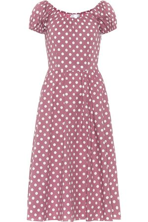 Caroline Constas Mujer Casual - Vestido corto Fai de algodón floral