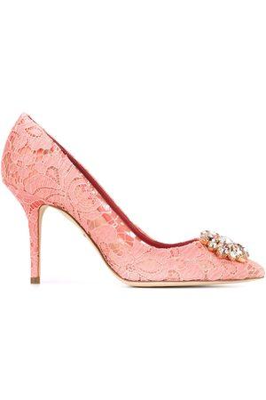 Dolce & Gabbana Zapatos de tacón Belluci de encaje con apliques