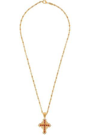 Dolce & Gabbana Collar con crucifijo y detalles