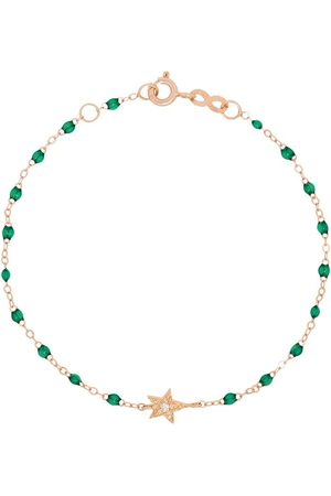 GIGI CLOZEAU 18K rose gold green diamond bracelet