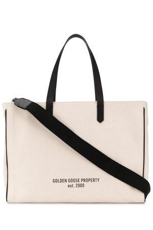 Golden Goose Bolso shopper con eslogan estampado