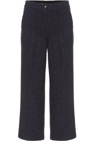 Etro Pantalones de tweed cropped