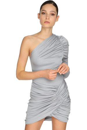 ALEXANDRE VAUTHIER | Mujer Body Drapeado De Jersey Lamé Acanalado 34