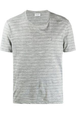 Saint Laurent Camiseta a rayas de manga corta