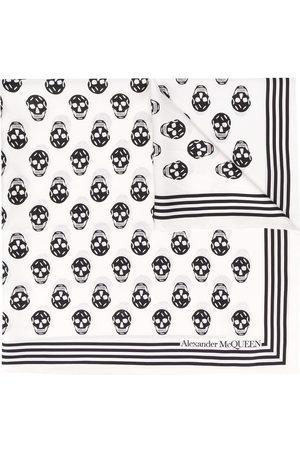 Alexander McQueen Pañuelo con estampado Biker Skull