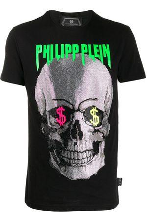 Philipp Plein Camiseta con estampado de calavera y detalles
