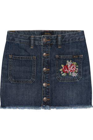 Ralph Lauren Falda de jeans con bordados