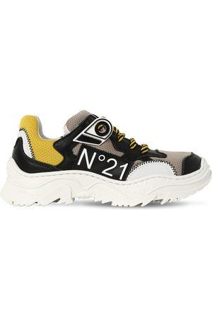 Nº21 | Niña Sneakers De Piel Y Malla 35