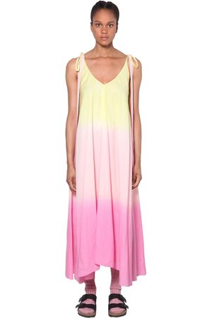 ALANUI | Mujer Vestido Midi De Organza Con Color Degradado /rosa S