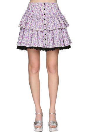 Marc Jacobs | Mujer Mini Falda De Popelina Con Volantes 0