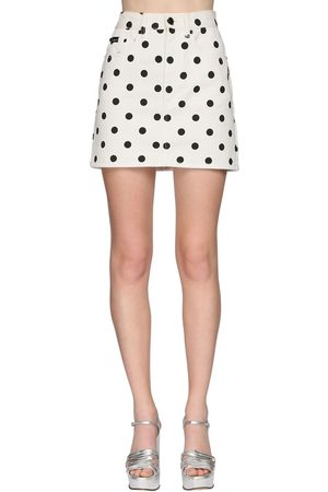 Marc Jacobs | Mujer Mini Falda De Denim Con Lunares /negro 24
