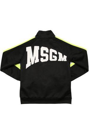 Msgm | Niña Sudadera De Algodón Con Logo Y Cremallera 8a