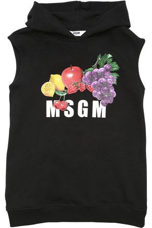 Msgm | Niña Vestido Sudadera De Algodón Con Capucha 8a