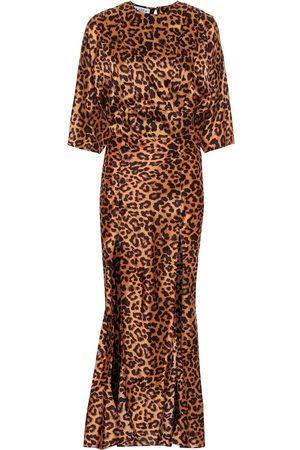 The Attico Vestido largo de crepé estampado