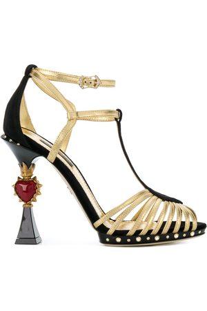 Dolce & Gabbana Sandalias con aplique en el tacón