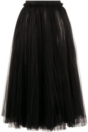Dolce & Gabbana Falda midi drapeada de tul