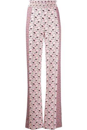 Prada Paisley-print wide-leg trousers