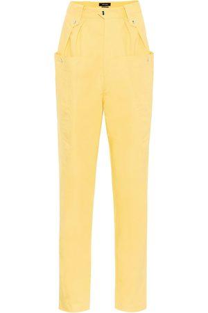 Isabel Marant Pantalones carrot Yerris de algodón