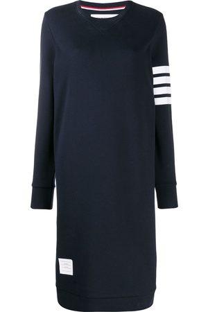 Thom Browne Vestido midi estilo jersey con detalle de rayas