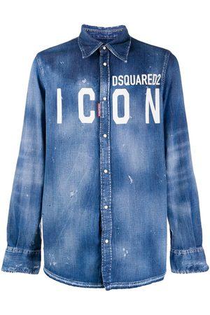 Dsquared2 Camisa vaquera con logo ICON
