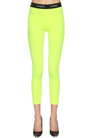 Vetements | Mujer Leggings De Lycra Con Logo Xs