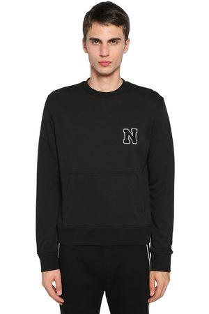 Neil Barrett | Hombre Suéter De Algodón Jersey Con Parche De Logo /blanco S