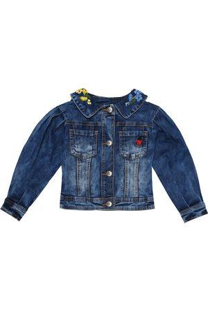 MONNALISA Chaqueta de jeans mezcla de algodón