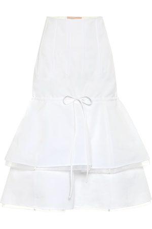 BROCK COLLECTION Falda midi de algodón y lino