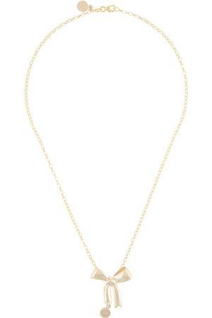 Karen Walker Collar con colgante de lazo en oro de 9kt