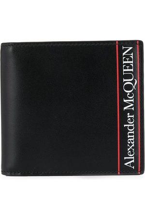 Alexander McQueen Cartera con logo y detalle de rayas