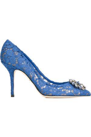 Dolce & Gabbana Mujer Tacón - Zapatos de tacón de encaje con apliques