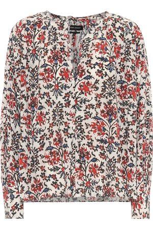 Isabel Marant Blusa Amba de seda floral