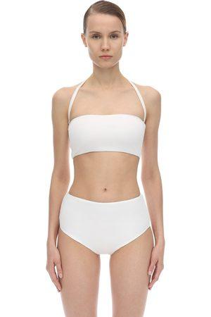 AEXAE Halter Neck Lycra Bandeau Bikini Top