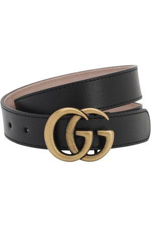 Gucci   Niña Cinturón De Piel Con Logo 60 Cm