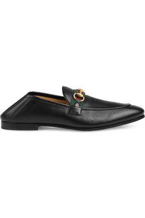 Gucci Hombre Calzado formal - Mocasín Horsebit de piel con tribanda hombre