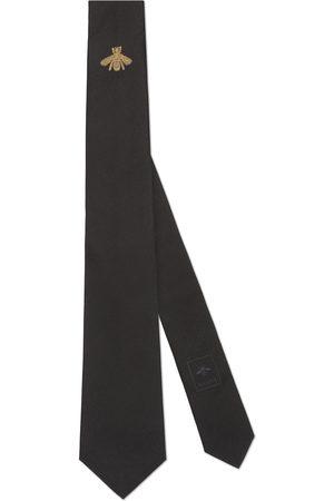 Gucci Hombre Corbatas y corbatín - Corbata de Seda con Bordado de Abeja