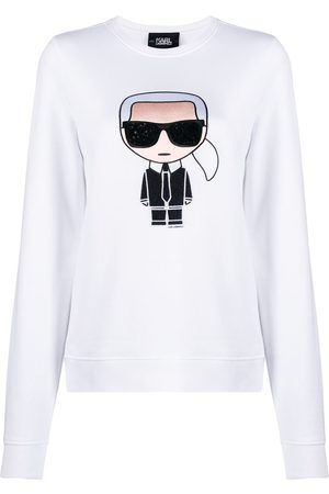 Karl Lagerfeld Mujer Camisetas - Camiseta Ikonik de strass