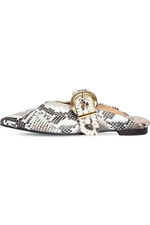 Reike Nen | Mujer Zapatos Mules De Piel Estampado Pitón 10mm 36