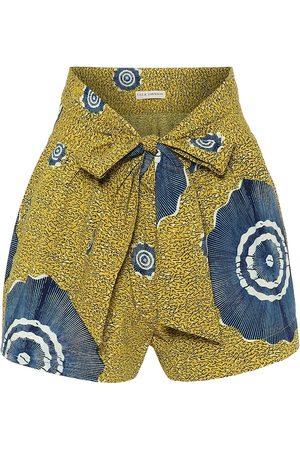 ULLA JOHNSON Shorts de algodón estampado