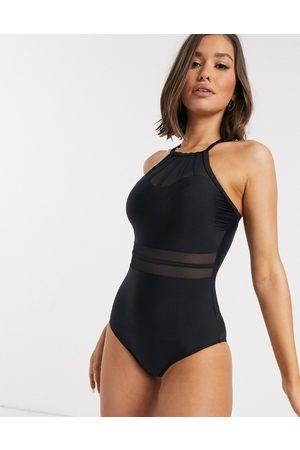 Pour Moi Mujer Bañadores - Bañador con cuello subido en negro Beach Bound de
