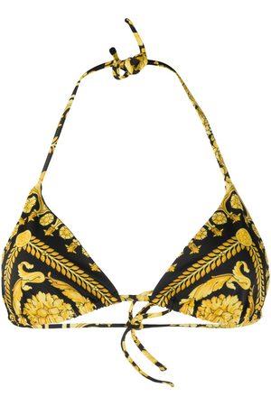 Versace Top de bikini con estampado barroco