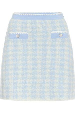 Miu Miu Minifalda en mezcla de lana
