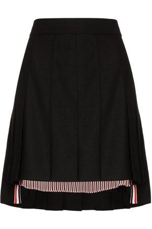 Thom Browne Minifalda con pliegues y dobladillo irregular