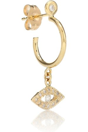 JACQUIE AICHE Exclusivo en Mytheresa – arete Evil Eye de oro de 14 ct y diamante