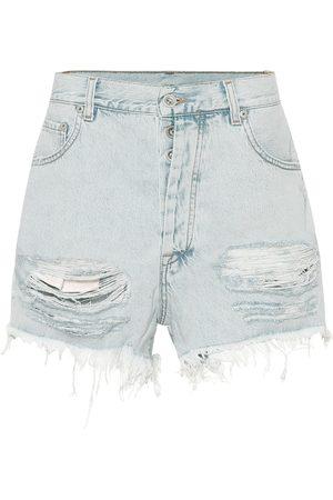 UNRAVEL Shorts de jeans de tiro alto