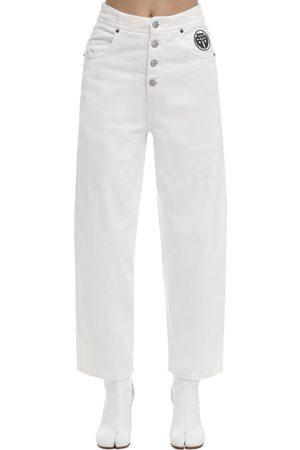 MM6 MAISON MARGIELA | Mujer Jeans Acampanados De Denim De Algodón 36