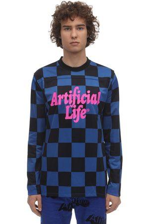 "alife kickin | Hombre Camiseta ""artificial Life"" Con Manga Larga /negro S"