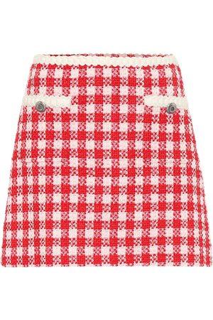 Miu Miu Minifalda de tweed de lana y algodón